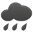 very cloudy, risk of rain or showers