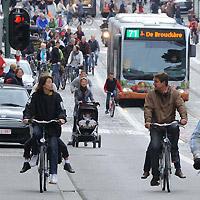 boulevard in het centrum tijdens de autoloze zondag