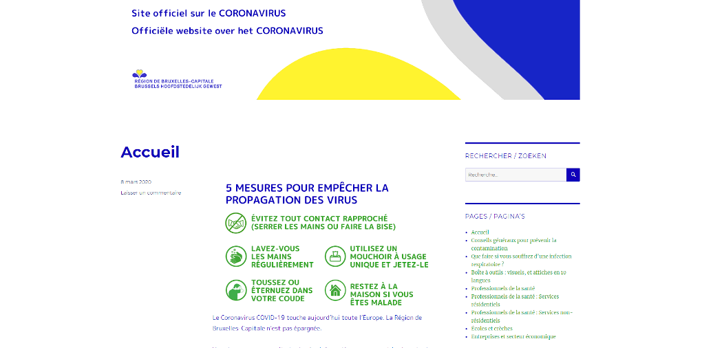 Official website on the Coronavirus